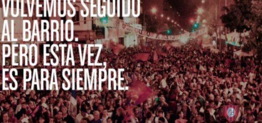 San Lorenzo celebra la vuelta del club a Boedo