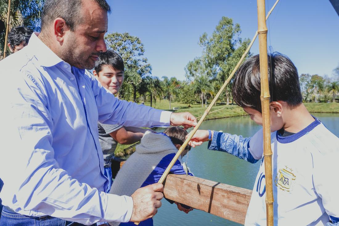 Posadas: Herrera Ahuad visitó una colonia de vacaciones