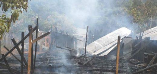 Un hombre perdió la vida tras incendiarse su vivienda en Dos de Mayo