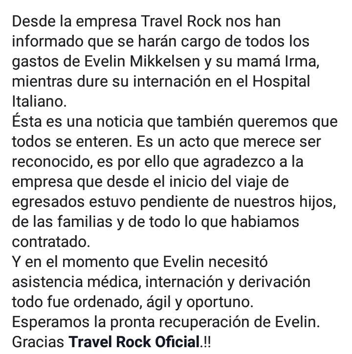 La empresa de viajes se hará cargo de los gastos del tratamiento de la estudiante eldoradense internada en Buenos Aires luego del viaje de egresados