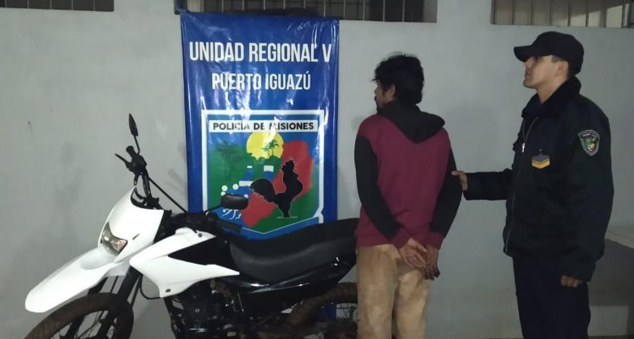 Cayó «Sombra» en Andresito: le pidió «prestada» la moto a su amigo y la vendió