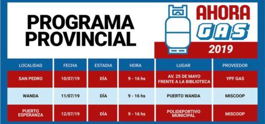 El programa provincial #AhoraGas llega a San Pedro, Wanda y Puerto Esperanza