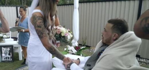 Una historia conmovedora: se casó con el amor de su vida, un día antes de que él muriera por un tumor cerebral