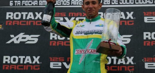 Grimaldi venció la sexta fecha de la Rotax Bue y se alzó con el cupo para correr en Francia