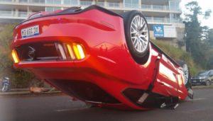 Las incógnitas que giran en torno al caso del vuelco del Mustang en la Costanera de Posadas