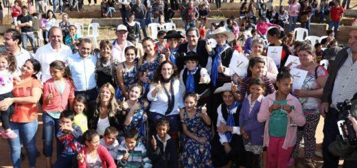 Oscar Herrera Ahuad, Gabriela Michetti y Alfredo Schiavoni inauguraron obras en Aristóbulo del Valle