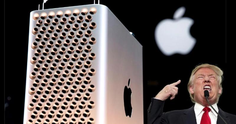 Trump amenaza a Apple con impuestos si no fabrica las Mac Pro en Estados Unidos