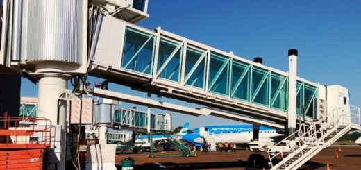 Mañana, comienza a operar la primera manga nueva para embarque en el Aeropuerto Internacional de Iguazú