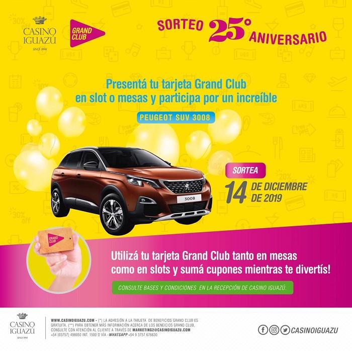 Sorteo Aniversario 25: llevate un increíble Peugeot SUV 3008 con Grand Club!