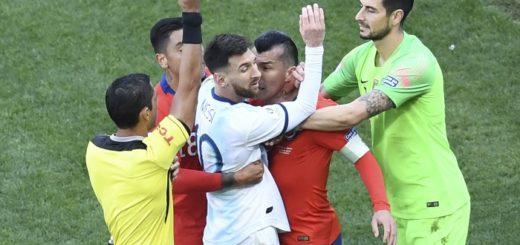 Copa América: Messi fue expulsado durante el partido entre la Selección y Chile