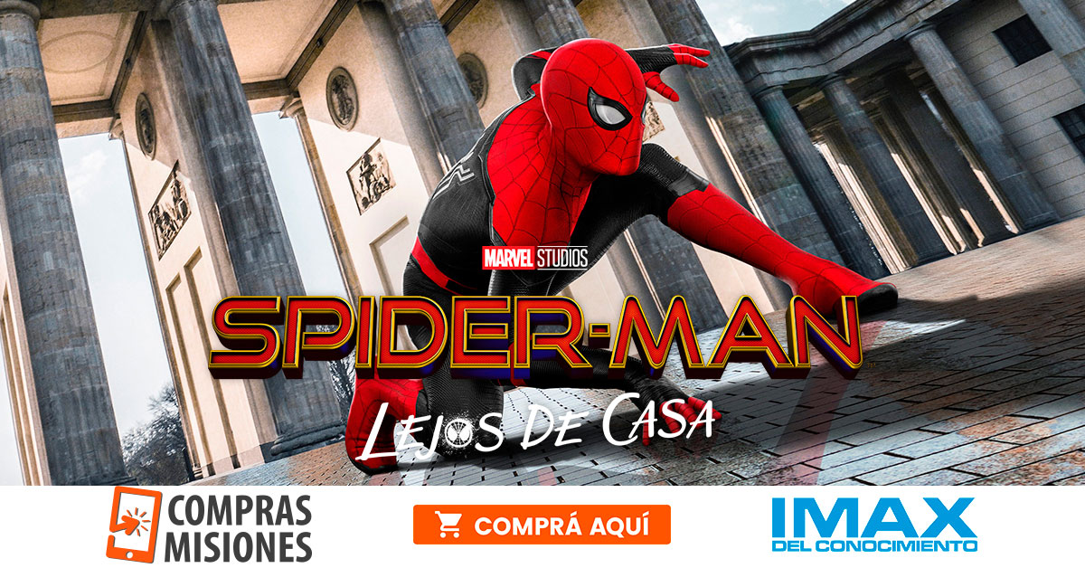 El jueves se estrena la nueva de Spiderman en el IMAX del Conocimiento…Ingresá aquí y adquirí las entradas por Internet