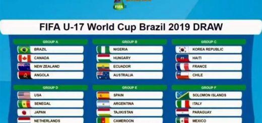 Mundial Sub 17: Argentina integrará el Grupo E junto a España, Tayikistán y Camerún