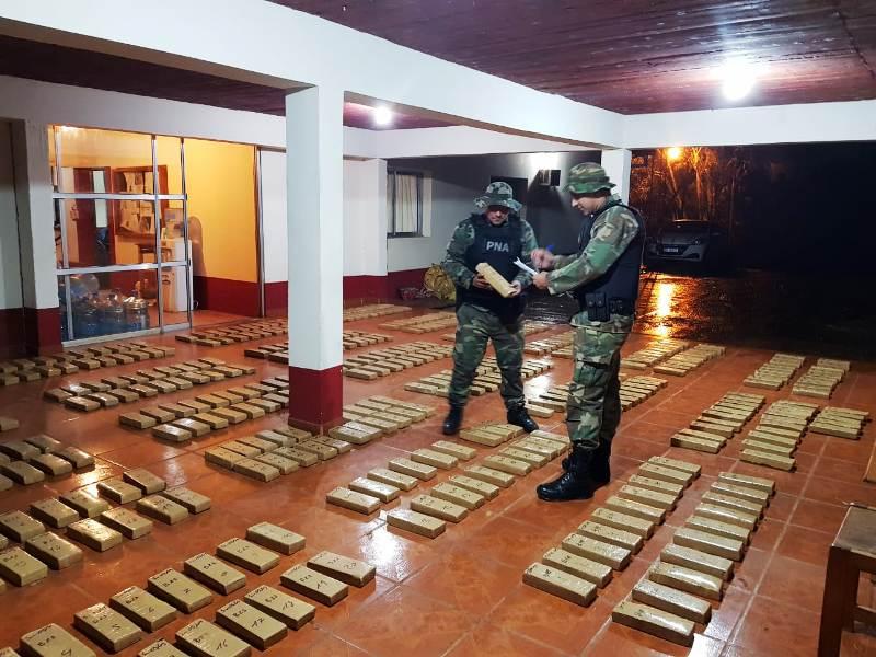 Prefectura incautó marihuana valuada en más de 20 millones de pesos en Montecarlo