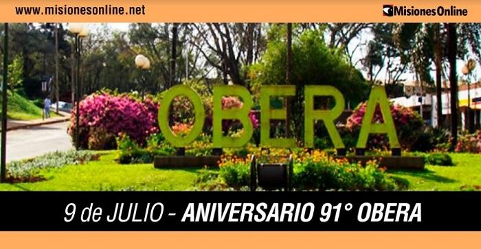 Hoy la ciudad de Oberá celebra su 91° Aniversario