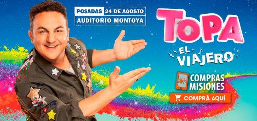 Topa contó que llega a Posadas con show renovado y doble función...Adquirí aquí las entradas por Internet