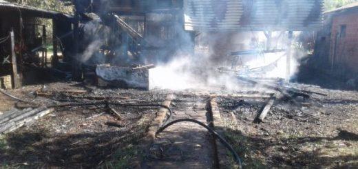 Incendio en Garupá dejó sin casa a un hombre discapacitado