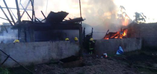 Iguazú: se incendió una casa en el barrio Cataratas