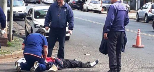 Choque dejó un motociclista herido en Posadas