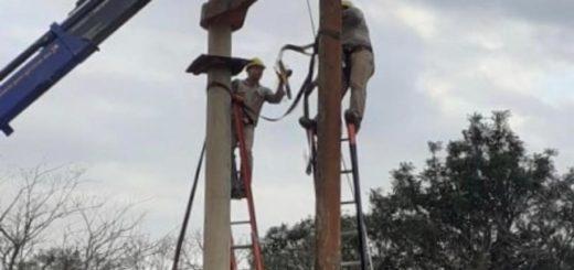 Energía de Misiones realiza nuevas obras que permitirán mejorar el servicio en Campo Grande