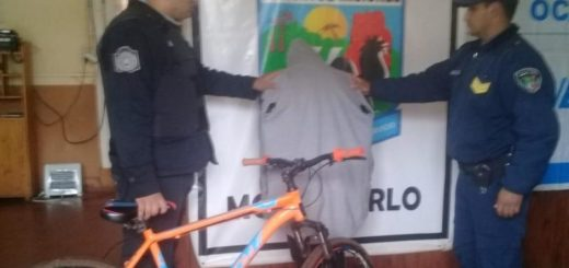 Montecarlo: detuvieron a un joven y recuperaron una bicicleta robada
