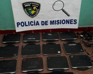 Garupá: policías recuperaron computadoras robadas a la Escuela Provincial N°763 que fueron vendidas