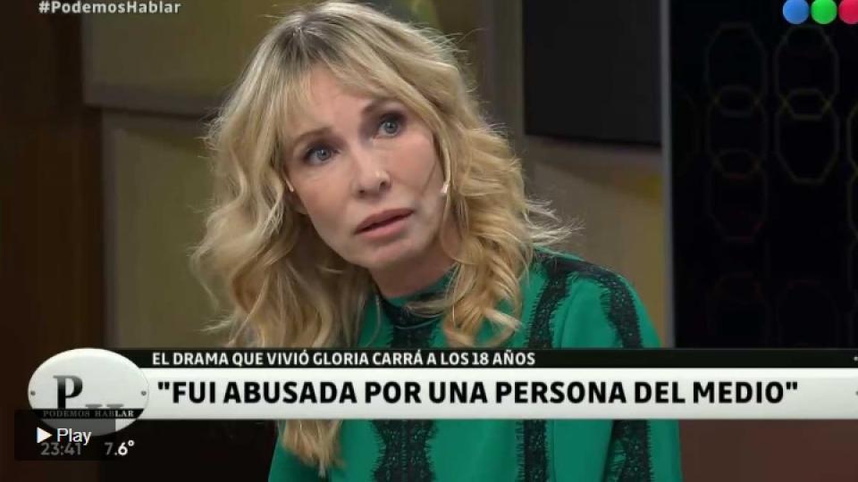 Gloria Carrá habló sobre el abuso que sufrió a los 18 años