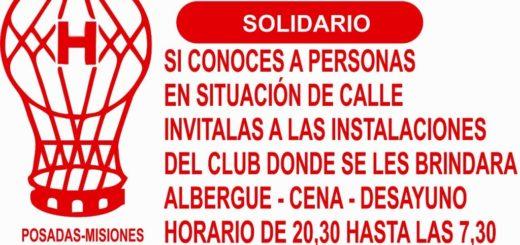 Posadas: al igual que River Plate, el Club Huracán abrirá sus puertas para que las personas en situación de calle puedan dormir durante las noches de frío intenso