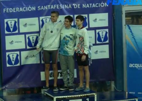 Natación: Mendez Brandt se colgó la medalla de bronce en los 50 metros libres