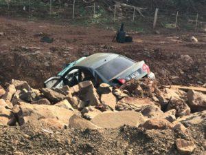 Una mujer resultó lesionada tras despistar con su vehículo en la Ruta 12