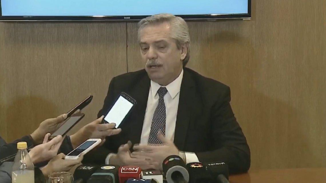 Alberto Fernández, tras hablar con Macri: «Tuvimos una buena charla y le manifesté mi voluntad de ayudar»