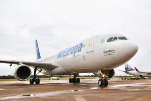 Iguazú: el vuelo de los lunes de Air Europa llegó al 100%