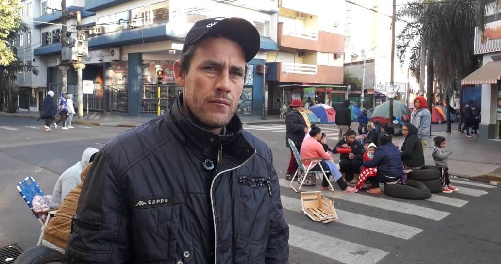 Acampe tarefero en Posadas: piden que el Gobierno nacional cumpla con el proyecto de trabajo firmado hace un año