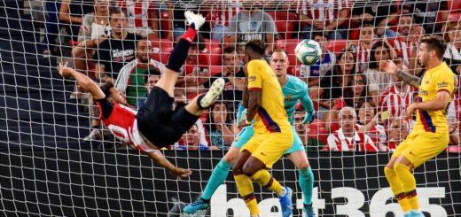 Athletic de Bilbao amargó a Barcelona en el inició de la liga española