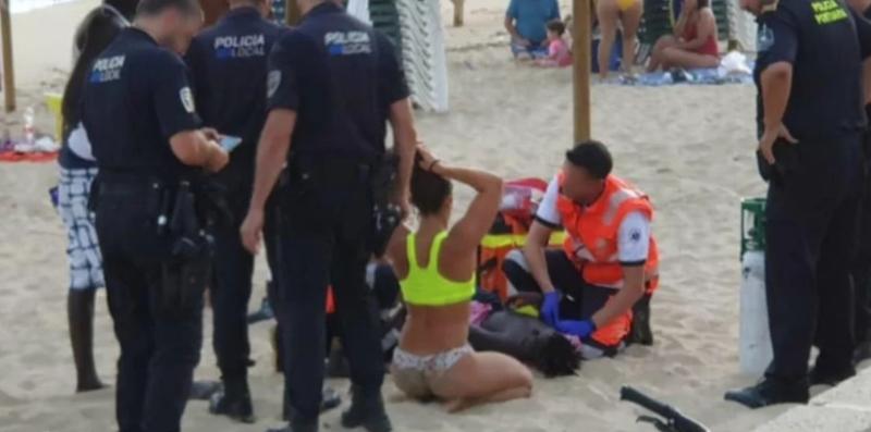 Una guardavidas argentina se convirtió en heroína en España al salvar a un niño de morir ahogado