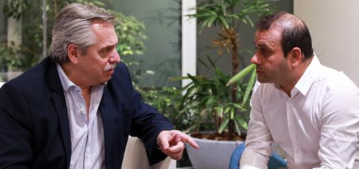 Alberto Fernández se reunió con el gobernador electo de Misiones Oscar Herrera Ahuad esta noche en Buenos Aires