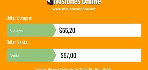 En el arranque de la jornada el dólar cotiza a $57 en Posadas