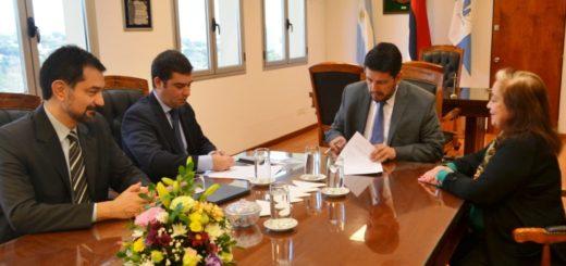 Firma de convenio con representantes del grupo Telefónica de Argentina