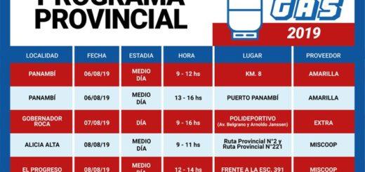 Desde mañana el programa #AhoraGas visitará Panambí, Gobernador Roca, Colonia Aurora, Alicia y El Progreso