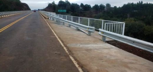 """Puente """"Canal Torto"""": finalizaron obras complementarias de seguridad"""