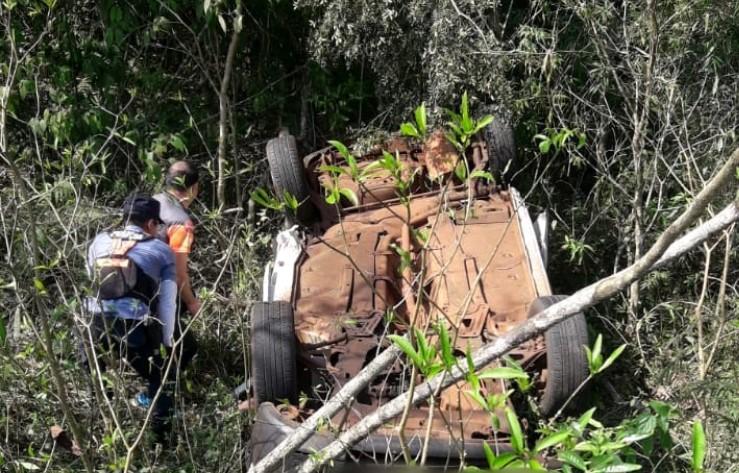 Vuelco en la Ruta 12 dejó dos muertos y un lesionado en Iguazú