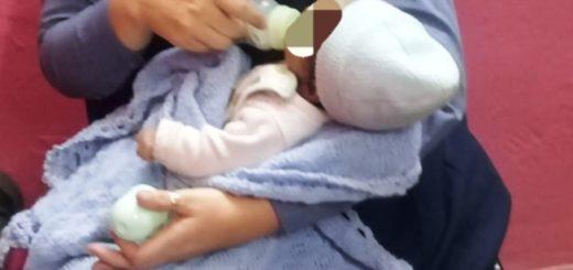 Policías asistieron y alimentaron a una beba que se encontraba en estado de vulnerabilidad en Montecarlo