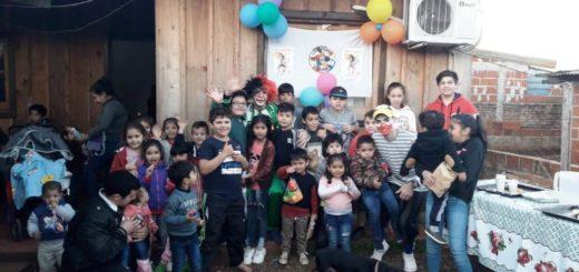Choferes Solidarios de Misiones celebraron el Día del Niño con chicos de Miguel Lanús
