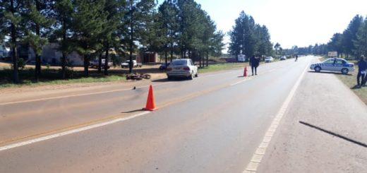 Motociclista quedó gravemente herido al ser embestido por Ford en la Ruta 14