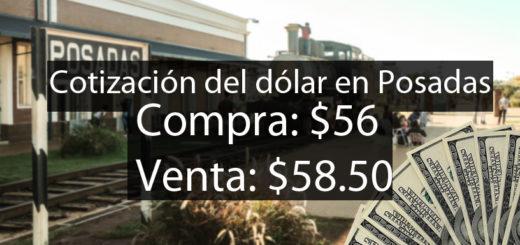 El dólar retrocede un 5% en Posadas y se vende a $58,50