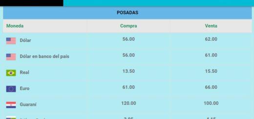 Tras los anuncios de Macri el dólar se vende a 62 pesos en Posadas