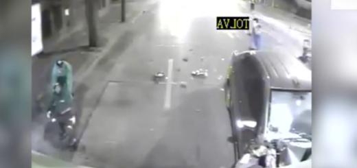 Video: el impactante momento en el que un recolector de basura es atropellado por un auto