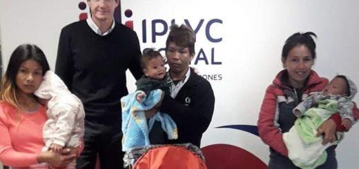 IPLyC Social entregó changos para trillizos Mbya