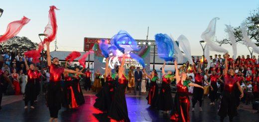 Las bodas de oro del Festival del Litoral, tuvo una presentación de lujo en el anfiteatro de Posadas