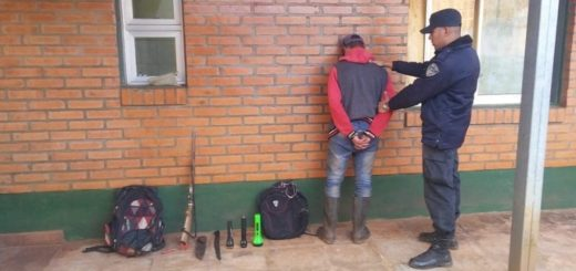 San Pedro: lo sorprendieron en plena caza furtiva y terminó detenido