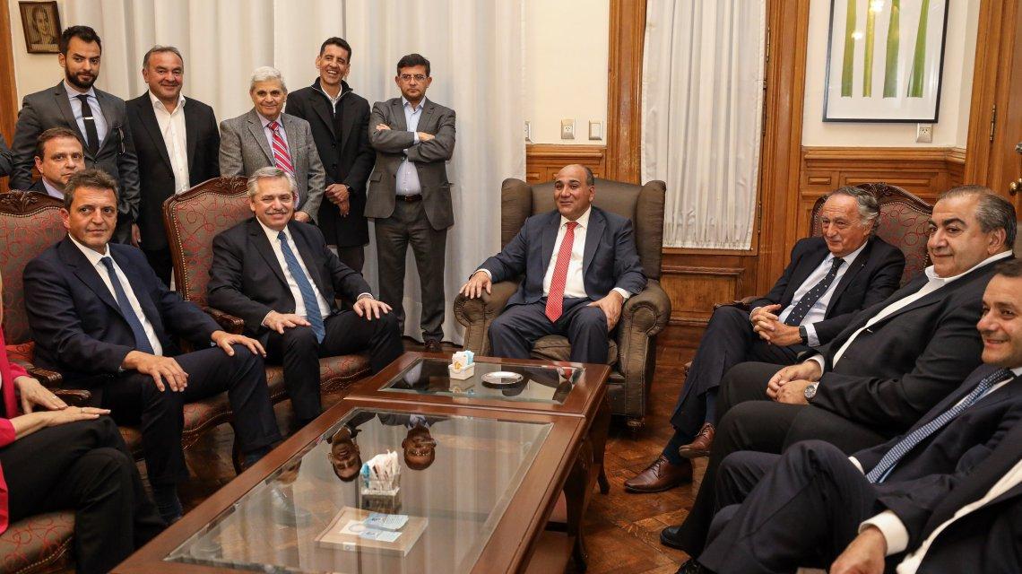 Alberto Fernández brinda una conferencia de prensa en Tucumán junto a Herrera Ahuad